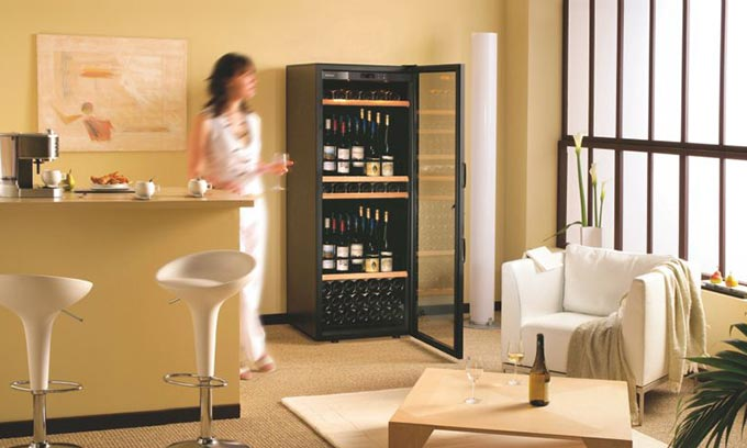 EuroCave Classic Wine Cabinet D283 Wine Fridge Dining Room Open Door