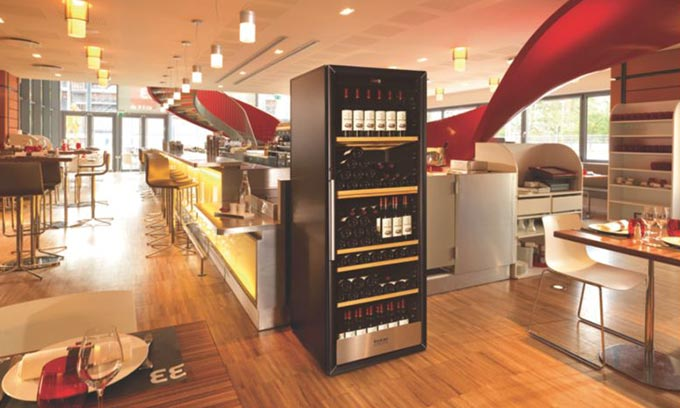EuroCave Professional. Wine Cabinet for restaurants.  Protect and Serve. 3000 Series.