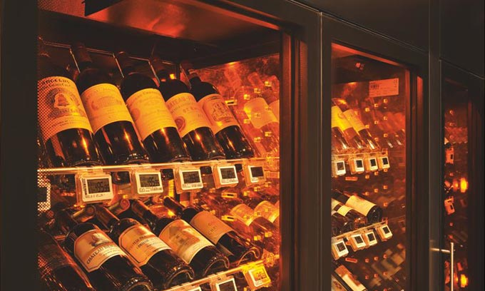 EuroCave Wine Cabinet.  Beautiful wine display.  9000 Series ShowCave.
