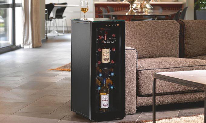 EuroCave Wine Cabinet Tete a Tete 10 Store + 2 Serve Bottles