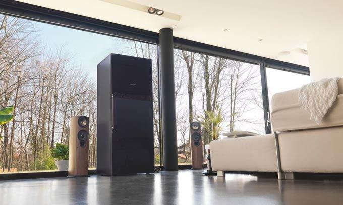 EuroCave Pure Wine Cabinet Black Piano Door