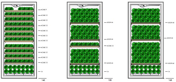EuroCave Premiere V166 shelving configuration