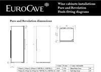 EuroCave Revelation Small Flush Fittings Diagram