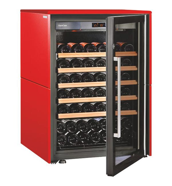 Eurocave Collection Wine Cabinet Small Red Glass Door