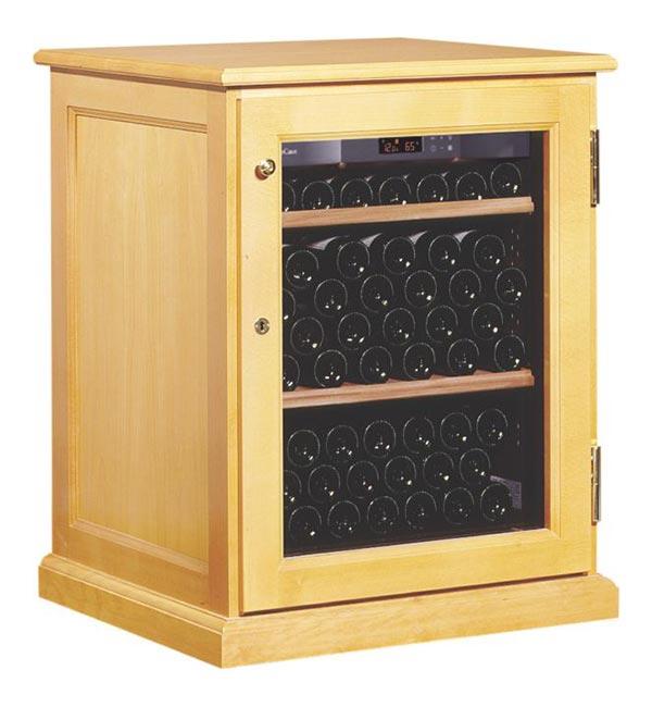 Wine Cabinet Solid Wood Door Closed