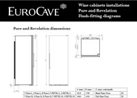 EuroCave Revelation Small Flush Fittings Diagram