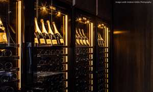 Revelation wine wall in tasting room